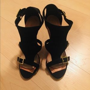 Shoes - Faux suede strapy sandals